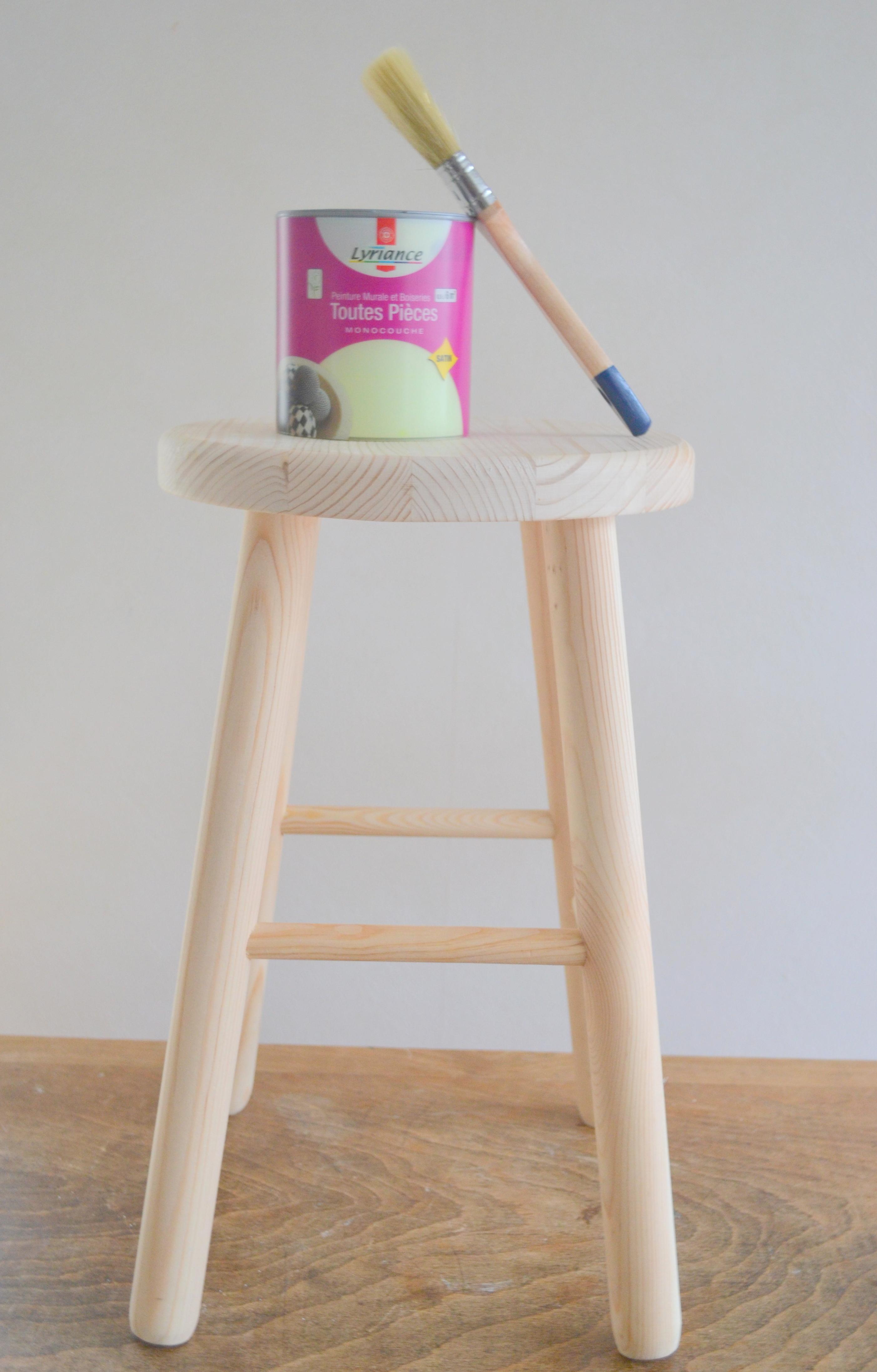 tabouret bois brut mood bar chair table trib chaise bois brut industrial furniture industrial. Black Bedroom Furniture Sets. Home Design Ideas