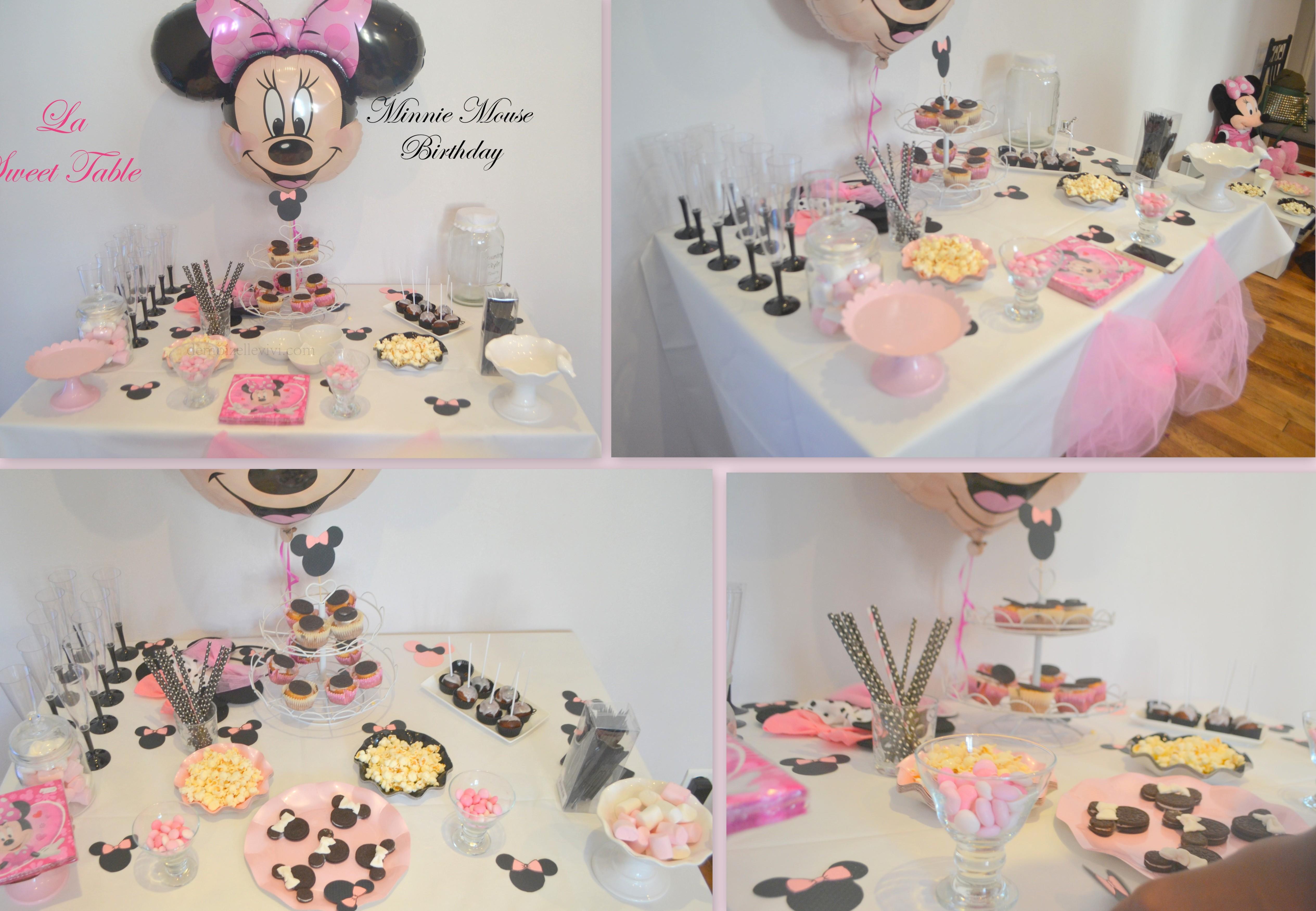 Le minnie birthday de mady 2 le g teau d anniversaire for La table de mimi